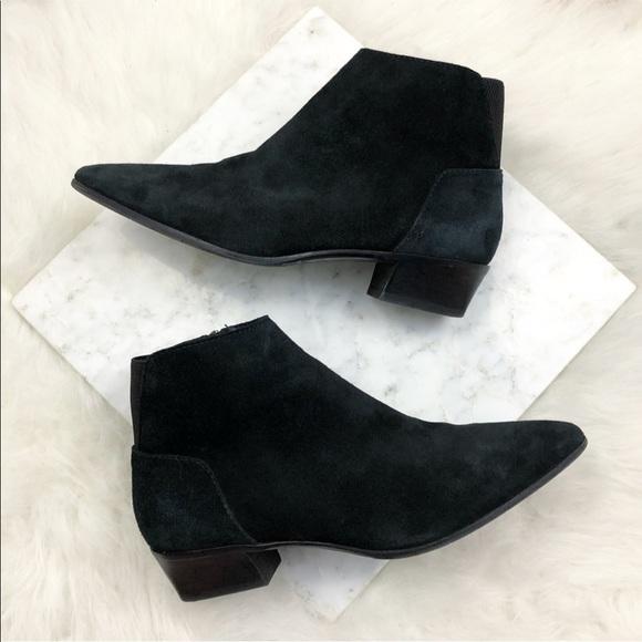 Aquatalia Black Suede Pointed Toe Ankle